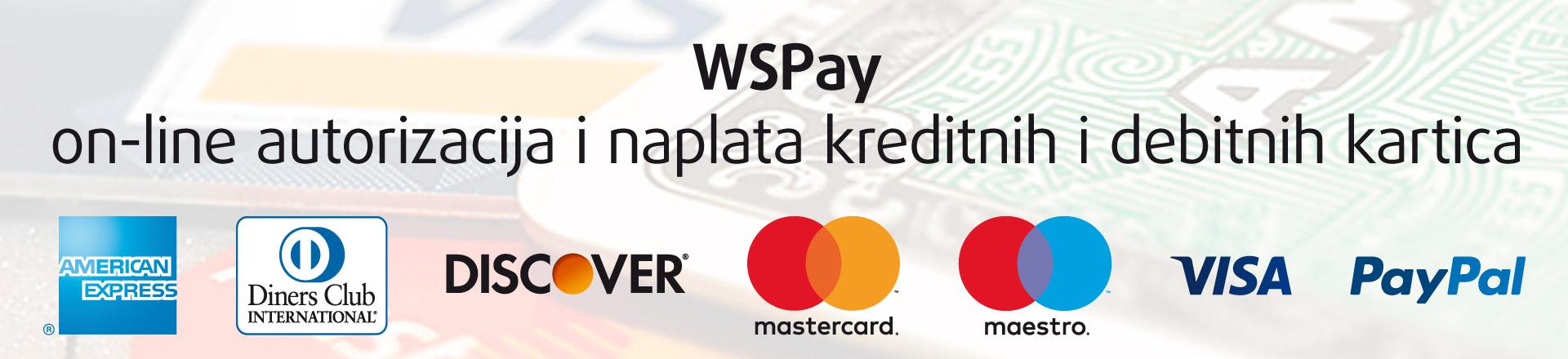 WSPay on-line autorizacija i naplata kreditnih i debitnih kartica