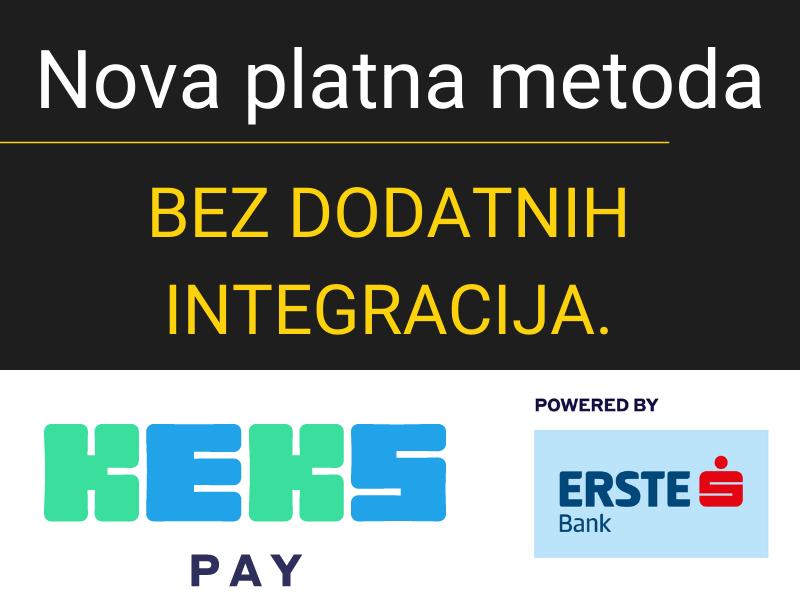 KEKS Pay platna metoda u WSPay-u