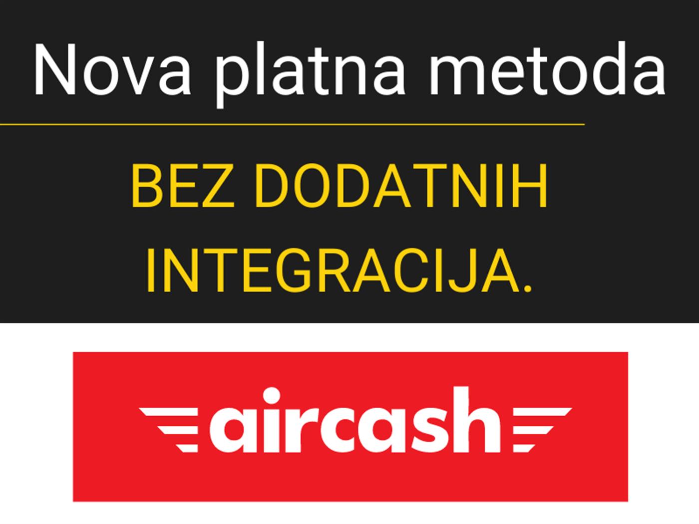 Od sada naplatite putem Aircash aplikacije